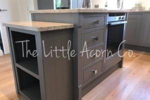 resprayed grey kitchen